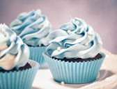 Sweet Blue Cupcakes — Stock Photo