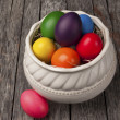 Brightly colored Easter Eggs — Stock Photo #70955645