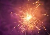 Close up of a burning sparkler — Stock Photo