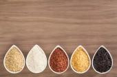 多采多姿的碗里的米饭 — 图库照片