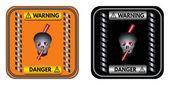 Warning sign: Danger — Stock Vector