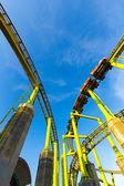 Roller Coaster with Blue Sky — Zdjęcie stockowe