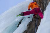 アイス クライミング — ストック写真