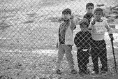 People in refugee camp — Stock Photo