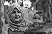 Portrait of refugees — Stock Photo