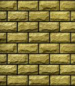 Texture of gold decorative tiles in form of brick — Stock Photo