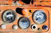 Vintage tractor speedometer — Stock Photo