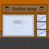 Illustration of coffee shop — Stockvector
