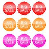 Vector illustration banner big discounts — Stock Vector