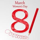 Vector illustration of Women's Day — Wektor stockowy
