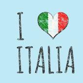 I love italia typography, t-shirt graphics. vector illustration — Stock Vector