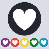 Stock Vector icon heart. Flat design — Stockvector