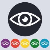 Stock Vector Linear icon eyes. Flat design — Stock Vector