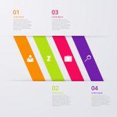 Vector illustratie infographics vier opties — Stockvector