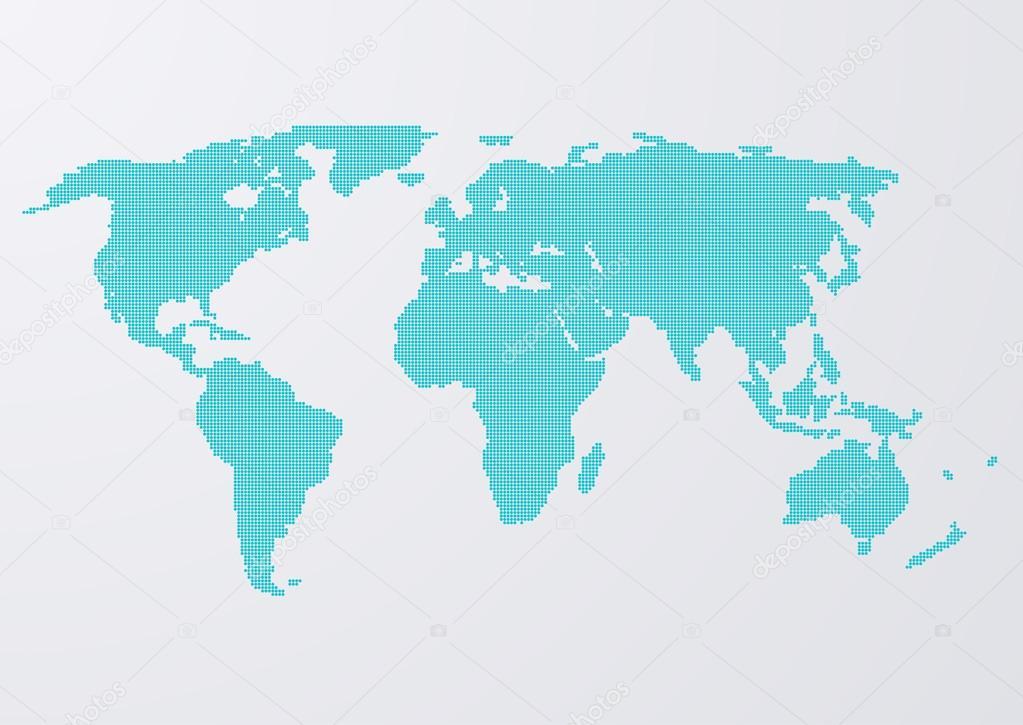 矢量图的世界地图圈子