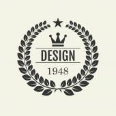 Vector illustration. The minimalist retro logo — Stock Vector