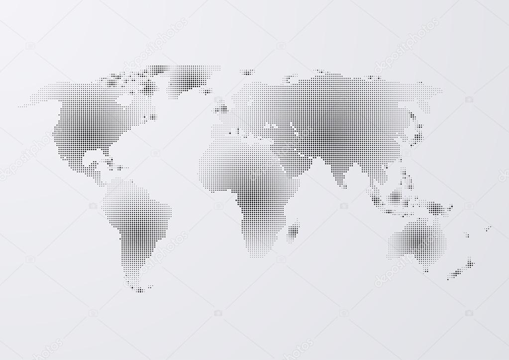 矢量图的点的世界地图