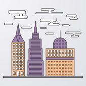 矢量图的线性设计市 — 图库矢量图片