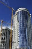 Two semi-circular high-rise building — Stock Photo
