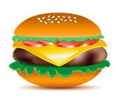Cheeseburger vector illustration. — Stock Vector