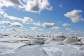 Ice and clouds, background — Stock Photo
