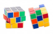 Rubik's Cube on a white background — Stock Photo