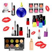 Clip-art with cosmetics — Stock Vector