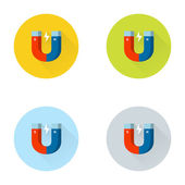 Magnet flat icon — Stock Vector
