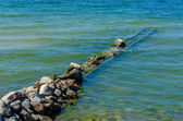 Breakwater on a Baltic Sea — Stock Photo