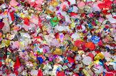 Wedding confetti background after the celebration — Stock Photo