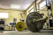 Interior of an old gym for bodybuilding — Stock Photo