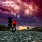 Railway traffic light — Stock Photo #79705178