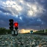 Railway traffic light — Stock Photo #79705170