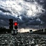 Railway traffic light — Stock Photo #79705186