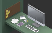 Productive Work space — Stock Photo