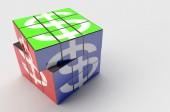 Illustration Rubik financial Rotate — Stockfoto