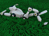 The robot in the grass — Stock Photo