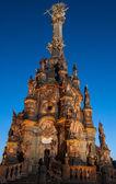 Olomouc, Republika Czeska - 2 lipca 2015 - nocne zdjęcie Kolumna Świetej Trójcy — Zdjęcie stockowe