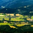 Wide Panorama of Beskydy,, Detail of Village Czech Republic — Stock Photo #77981738