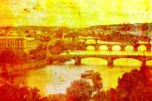 Prague CItyscape Illustration — Stock Photo