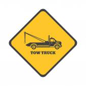 Tow truck sign — Stock Vector