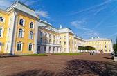 Armorial housing of Grand Palace in Peterhof — Stock Photo