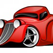 Red Hot Rod Custom Coupe Illustration — Stock Vector #71321387