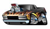 Hot Rod Pickup Truck Illustration — Stock Vector