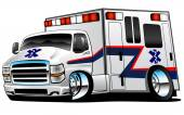 White Paramedic Ambulance Rescue Truck Illustration — Stock Vector