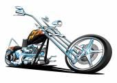 Custom American Chopper Motorcycle — Stock Vector