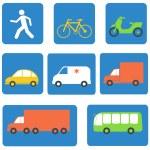 Transportation icons design elements. Vector illustration — Stock Vector #79079954