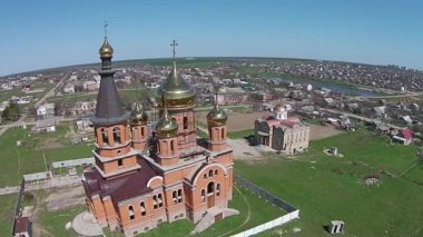 Construction of an Orthodox church. — Stock Video