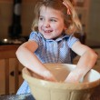Pretty little girl baking — Stock Photo #74932685