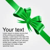 Shiny green satin ribbon — Stock Vector